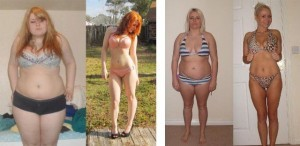 før og efter billeder med stenaldermad