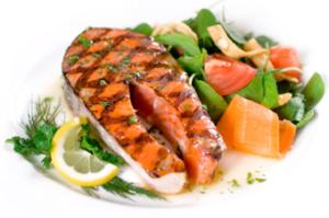 fisk og grønt til vægttab