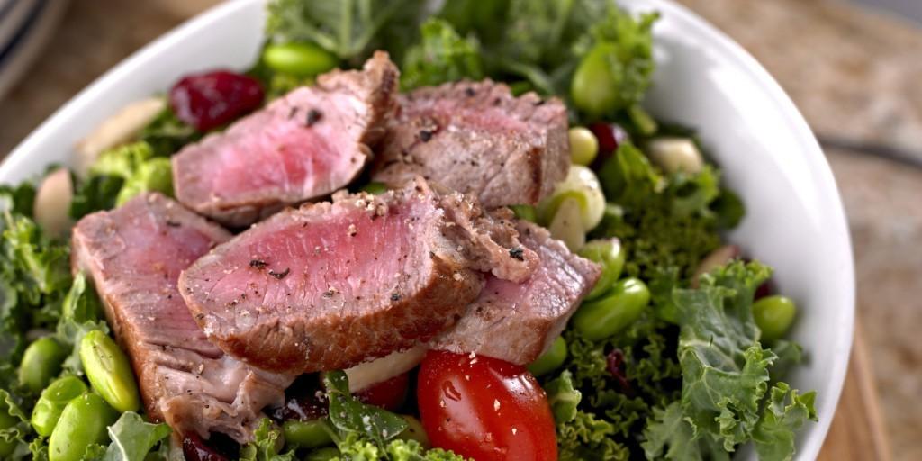 frisk salat med Roasted Beef