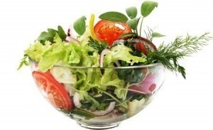 sund salat med grønsager