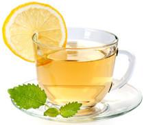 en kop te med citron