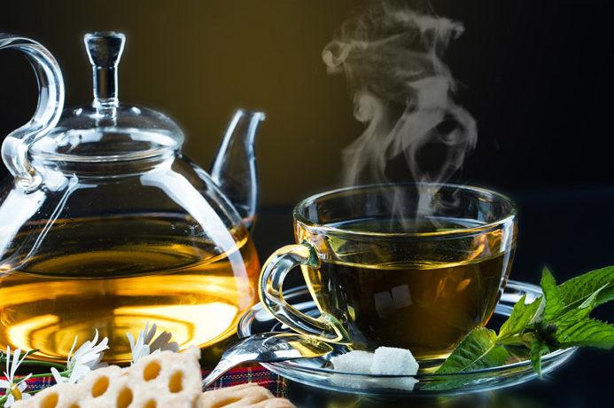 grønt te krus og potte