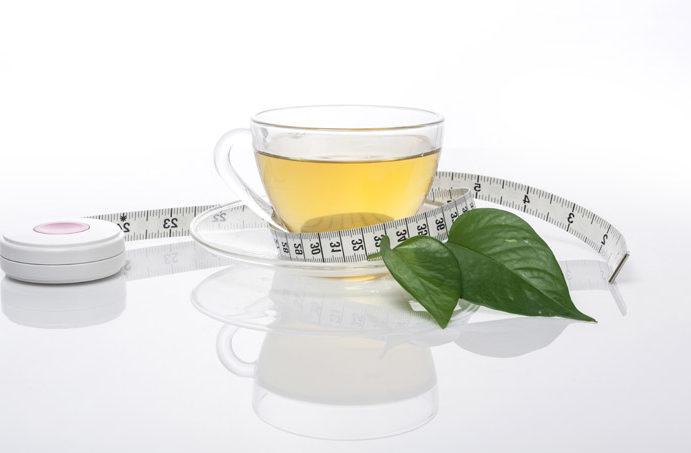 vægttab grøn te