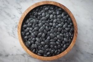 sorte bønner