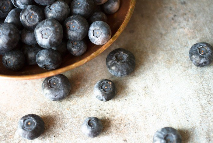 superfood blåbær for en flad mave