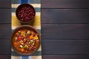 grønsag og bønne chili