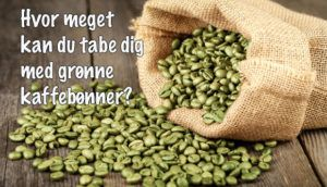 grønne kaffebønner i sæk