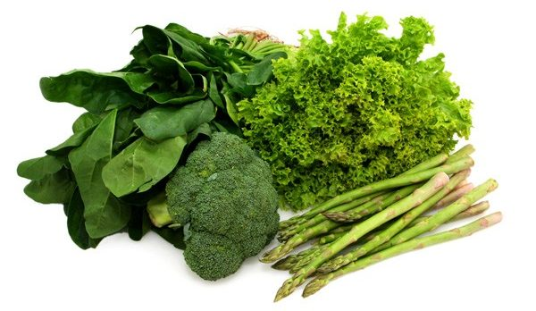 grønne grønsager til slankekost