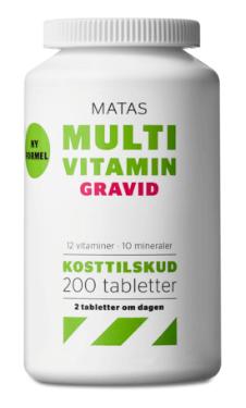 Matas Multivitamin Gravid – gravide skal passe ekstra meget på